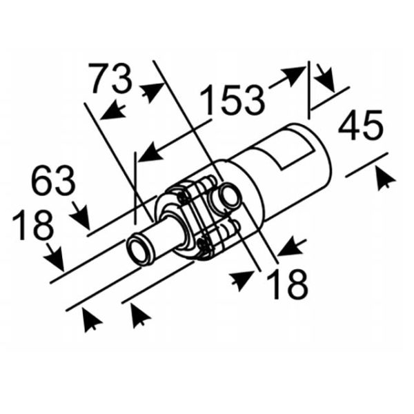 Помпа U4844 24В 18мм