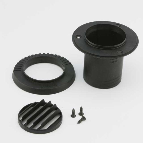 Дефлектор 55мм 45° поворотный черный