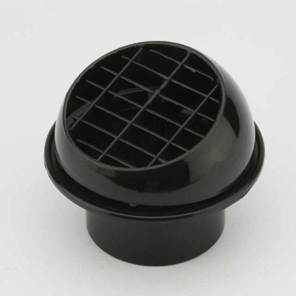 Дефлектор 80мм поворотный черный
