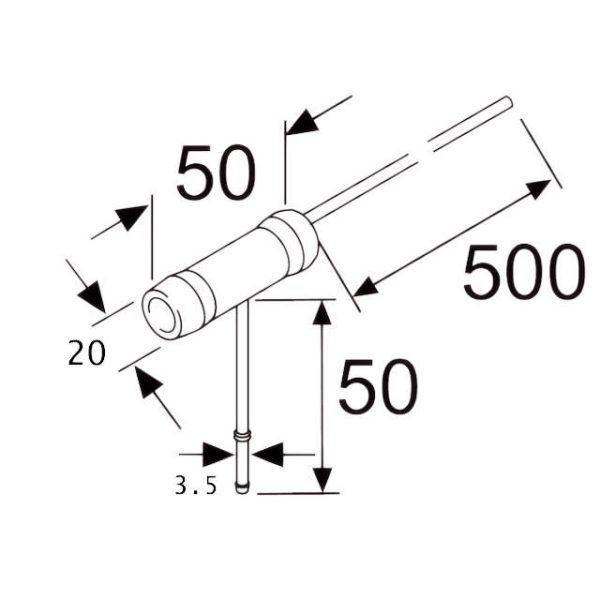 Топливозаборник для вентиляции бака 20мм 3,5мм