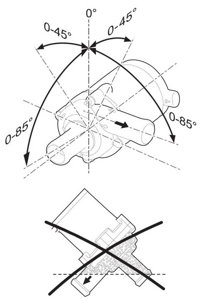 Рис. 802 Установочные положения циркуляционного насоса U4847 Econ