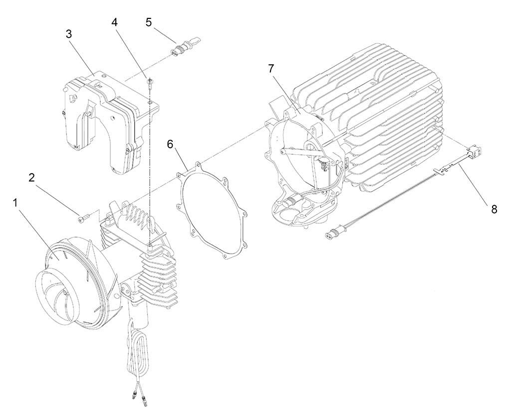 Замена блока управления, датчика перегрева и нагнетателя воздуха